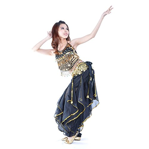 Pilot-trade Belly Dance Costume Top Tribal Gold Wavy Harem Pants Hip Scarf