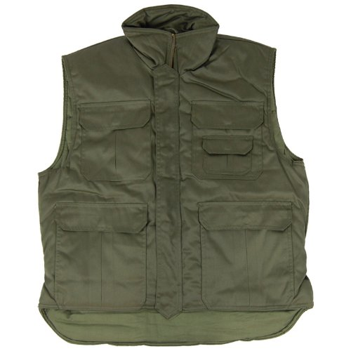 Body Warmer Padded Vest Fishing Jacket Mens Gilet Olive Drab
