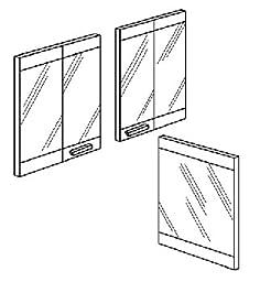 FMI VDBP36C Vantage Hearth 36 Corner Glass Doors