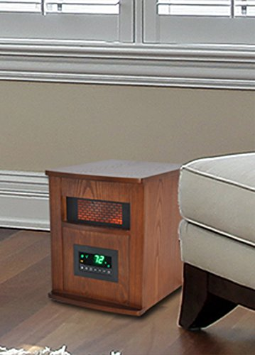 B00FHCS2CO Lifesmart 6 Element  Large Room Infrared Quartz Heater w/Wood Cabinet and Remote