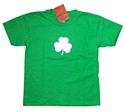 Screen Printed Shamrock Youth T-Shirt Tee Kids 100% Cotton Irish Green