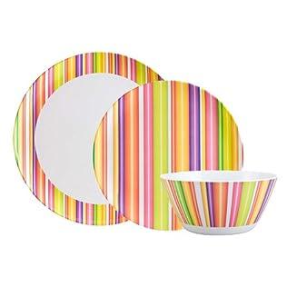Zak Designs Stripe Melamine Dinnerware Collection