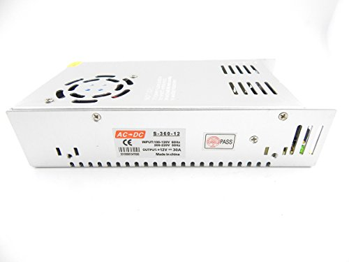 E-Age 12V 30A 360W Dc Switch Power Supply Driver For Led Strip Light Display