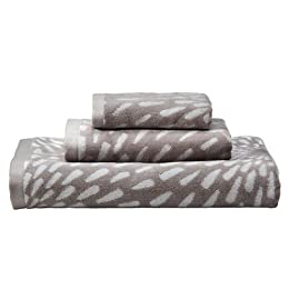 Home Sunburst 3pc Towel Set - Gray