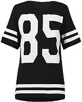 (womens oversize 85 t-shirt top)(sty) femmes surdimensionné 85 haut