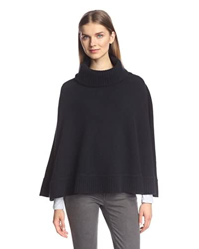 Portolano Women's Knit Poncho, Black