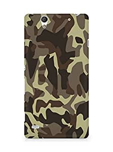 Amez designer printed 3d premium high quality back case cover for Sony Xperia C4 (Military lines light surface)
