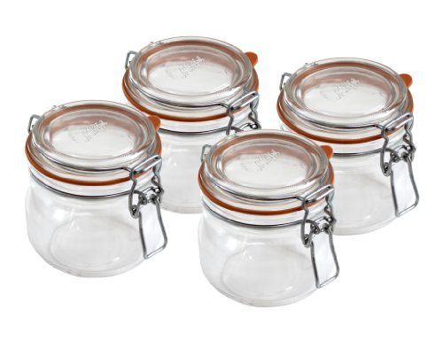 Le Parfait Super 580ml (19.6 Fl Oz) Canning Jar 4-Pack