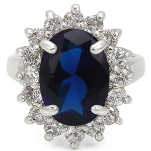 PRINCESS DIANA KATE MIDDLETON RING - Oval Sapphire CZ Engagement Ring