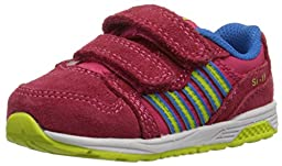 k-SWISS SI-18 Trainer 2 Dester Sneaker (Infant/Toddler), Raspberry/Lime Punch, 2 M US Infant