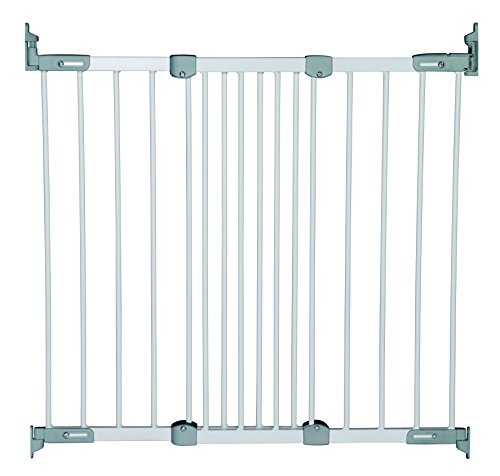 BabyDan Super Flexi Fit Extending Metal Safety Gate White//Silver