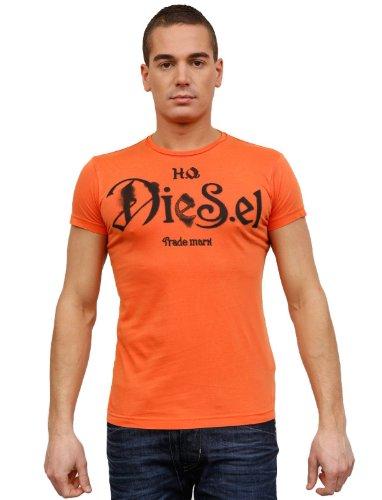 Diesel T-ninao 34h Flare Orange Man T-shirts Make Men - S