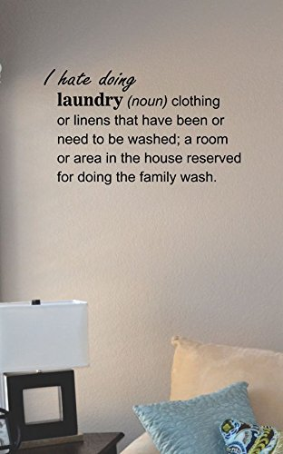 I Hate Doing Laundry Definition Vinyl Wall Art Decal Sticker front-381385