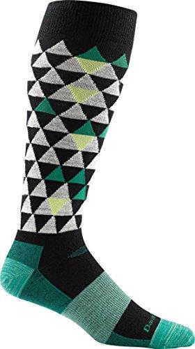 Darn Tough Pinnacle Ultra Light Sock - Men'S Black/Green Small