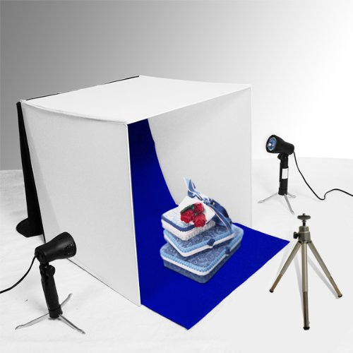 limostudio table top photo photography studio lighting light tent kit in a box 1 x 16 tent 2 x. Black Bedroom Furniture Sets. Home Design Ideas