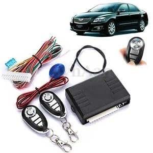 Universal 12V Car kit Remote Control Box Kit Door Lock Vehicle Keyless Alarm LED
