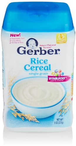 Gerber Baby Cereal, Rice, 8 Oz