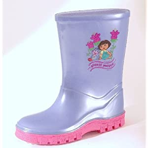 Kids Girls Novelty Dora The Explorer Buenos Amigos Welly Boot
