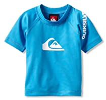 Quiksilver Baby-Boys Infant All Time Short Sleeve, Cyan, 6-9 Months