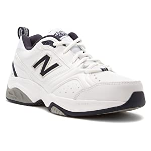 New Balance Men's MX623 Cross-Training Shoe,White/Navy,9 2E US