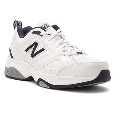 New Balance Men's MX623 Cross-Training Shoe,White/Navy,10 D US