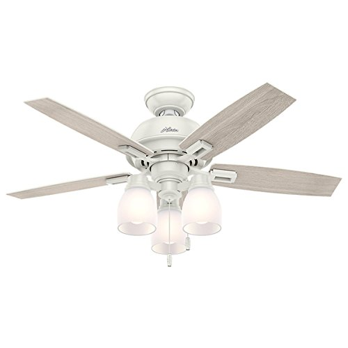 Hunter Fan Donegan Collection Fresh White 44-inch Ceiling Fan and Light Kit (Hunter Fan Light Cover compare prices)