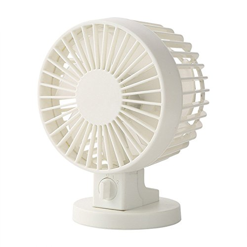 Binwo Mini Desktop USB Fan with Double Blade, Enhanced Airflow, Quiet Operation - Personal Cooling Fan, Portable Table Fan with 2-Mode Wind Strength (3.8 Inch, White) (Message Fan Usb Port compare prices)