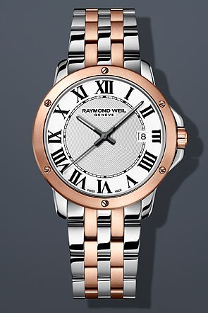 Raymond Weil Tango Silver Dial Two-tone Stainless Steel Mens Watch 5591-SP5-00300