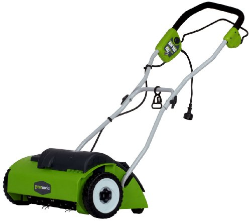 "Check Out This GreenWorks 27022 10 Amp 14"" Corded Dethatcher"