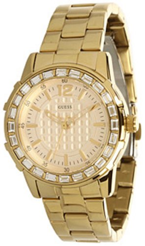 Guess Women's U0018L2 Dazzling Sport Petite Gold-Tone Stainless Steel Watch