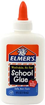 Elmer's Washable No-Run School Glue, 4 oz