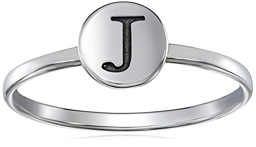 Sterling Silver Initial J Ring, Size 7 (Initials Ring compare prices)