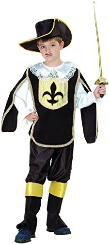 Musketeer - Childrens Fancy Dress Costume - Large - 134 to 146cm by Bristol Novelties (Musketeers Fancy Dress)
