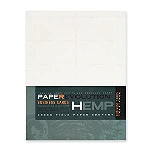 Amazoncom hemp heritage business cards 100 laser for Perforated business card paper