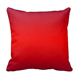 Blank Decorative Pillow Covers : Amazon.com - Decors Nuclear Red Gradient - Poppy Reds Template Blank Throw Pillow Case Cushion ...