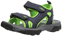 Northside Riverside Fisherman Sandal (Toddler/Little Kid/Big Kid),Navy/Green,11 M US Little Kid