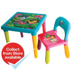 Dora The Explorer Table And Chair Set Plus Free Gift From