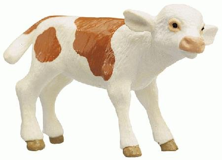 Bullyland Brown & White Calf