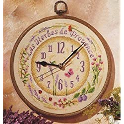Vervaco, kit de punto de cruz contado, Reloj Herbes de Provence, Multi-Colores