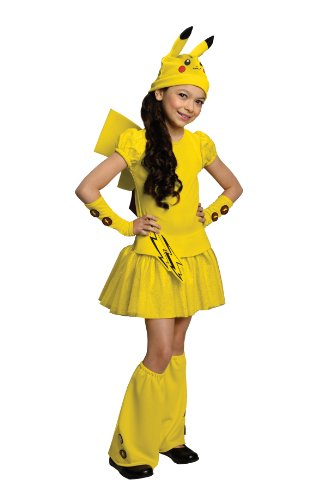 Pokemon Girl Pikachu Costume Dress, Medium