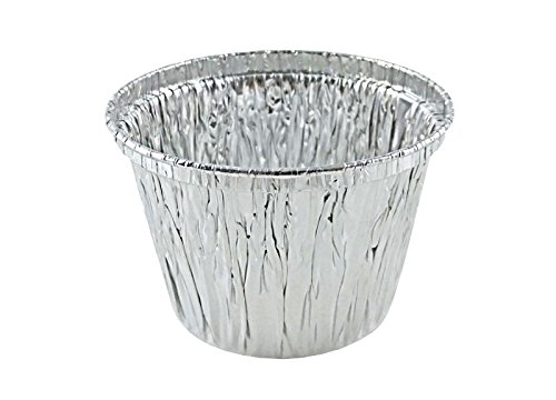 ATTA International 7 oz. Deep Aluminum Foil Cupcake Muffin Utility Cup -Disposable Ramekin Food Tin (pack of 50)