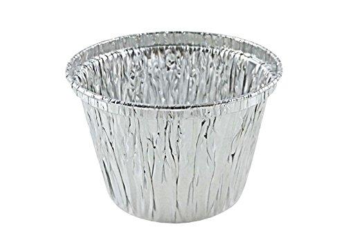 ATTA International 7 oz. Deep Aluminum Foil Cupcake Muffin Utility Cup -Disposable Ramekin Food Tin (pack of 50)