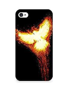 Amez designer printed 3d premium high quality back case cover for Apple iPhone 4s (Rise phoenix myth fire bird phoenix)