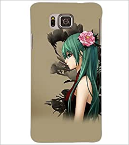 PrintDhaba Beautiful Girl D-5616 Back Case Cover for SAMSUNG GALAXY ALPHA (Multi-Coloured)