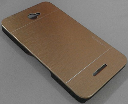 Saihan Motomo Brushed luxury Metal Hard Case Cover For Sony Xperia E4 Gold