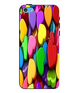 EU4IA MULTICOLOR MATTE FINISH 3D MATTE FINISH Back Cover Case For iPhone 5c -...