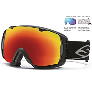 Smith I/O Sol-X and Sensor Mirror Lens Snow Goggle - Black (Old Version)
