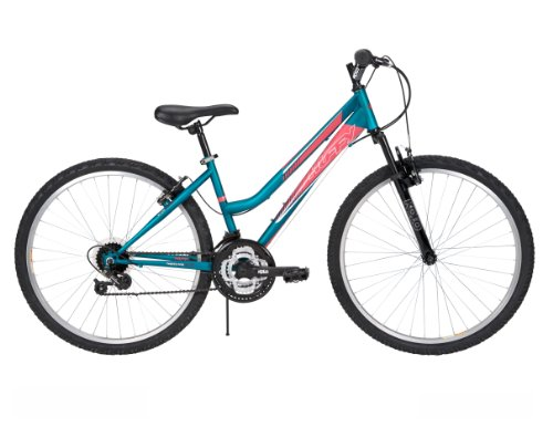 Huffy Women's Tundra Mountain Bike, Matte Teal, 26-Inch/Medium