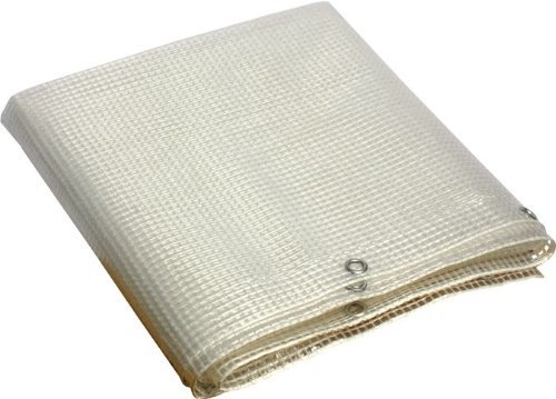 Telo Pvc occhiellato multiuso copertura esterni colore bianco 3x4 mt