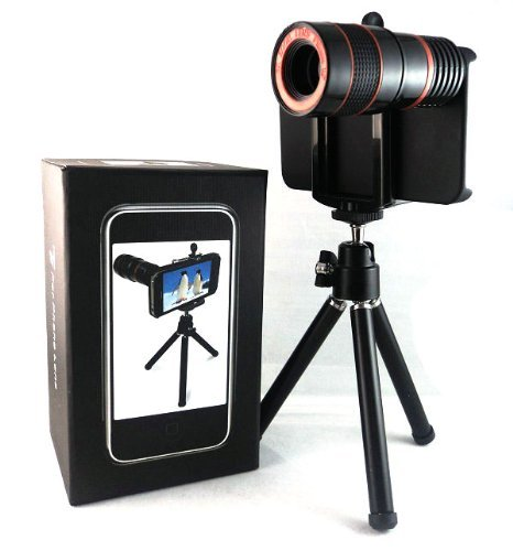 For Apple Iphone 4S 4G 4 Optical 8X Zoom Lens Telescope Tripod Fathers Day Gifts Presents With A Iphone Case Gift